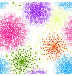 Colorful Hydrangea Flower Seamless Background vector image vector image