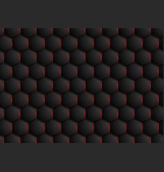 Dark abstract hexagonal texture design vector