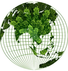 Environmental theme with plant on earth vector