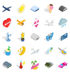 flier icons set isometric style vector image