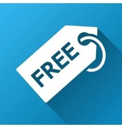Free Tag Gradient Square Icon vector image