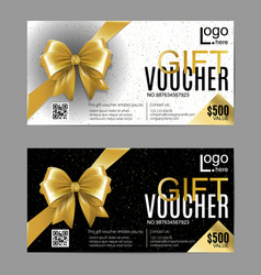 Gift card or voucher template with vector
