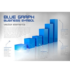 graph blue vector image