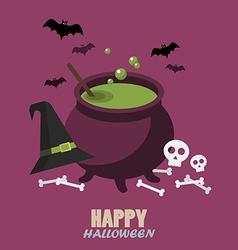 Happy halloween flat style vector