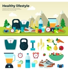 Healthy Lifestyle Sport Proper Nutrition vector image