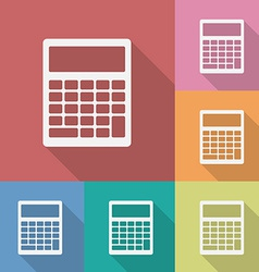 Icon of Calculator vector image