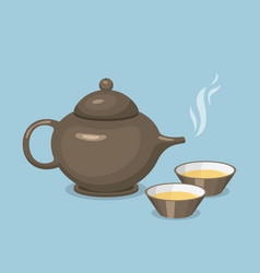 kettle teapot drink hot breakfast kitchen utensil vector image