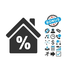 Mortgage Discount Flat Icon with Bonus vector image