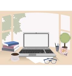 Office interior workplace organization vector image