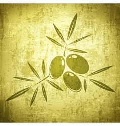 Olives Grunge Background vector image vector image