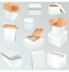Package boxes set vector image