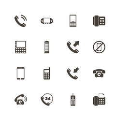 Phones - flat icons vector