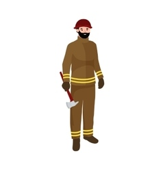 Professions firefighter man Worker peoples team vector image