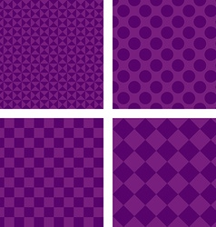 Purple abstract geometric shape wallpaper set vector