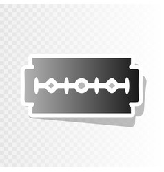 Razor blade sign new year blackish icon vector