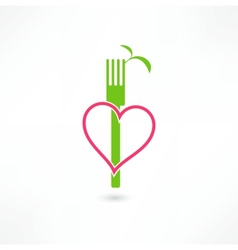 Vegetarian sign vector