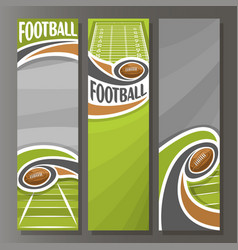 Vertical banners for american football vector