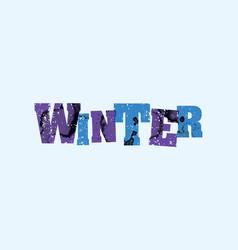 winter concept stamped word art vector image vector image
