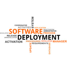 Word cloud - software deployment vector
