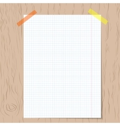 Realistic squared notebook paper vector