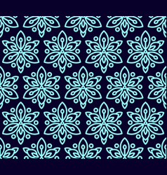 Seamless pattern with clematis vector