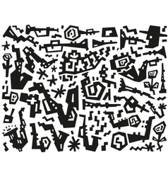 Jazz - doodles set vector