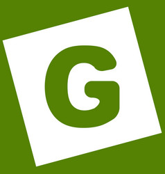 Letter g sign design template element vector