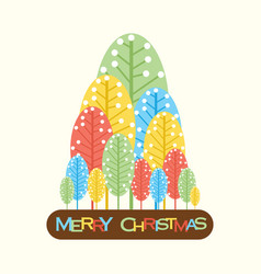 Abstract merry christmas tree design vector