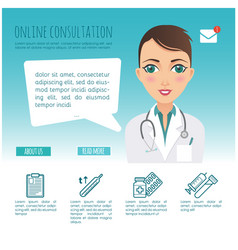 Infographic online healthcare diagnosis vector