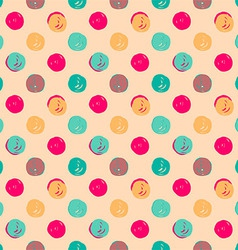 Hand drawn polka dots seamless texture vector