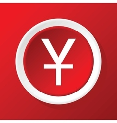 Yen icon on red vector