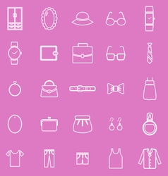 Dressing line icons on pink background vector
