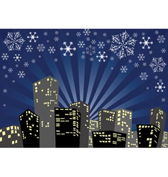 Winter night vector