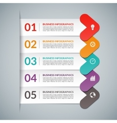 Arrow infographic design elements vector