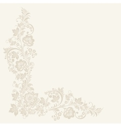 Floral background russian traditional vector