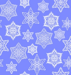 Snowflakes with embroidery vector