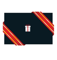 Card with gift box vector