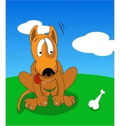 Cartoon dog vector