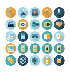 Icons flat line leisure vector