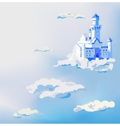 Castle in the clouds dream sky palace vector