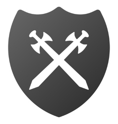 Security shield gradient icon vector