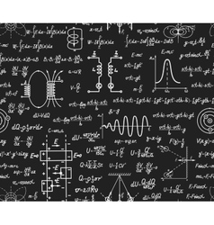 Physical seamless pattern on blackboard vector