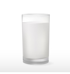 Glass of milk isolated on white vector