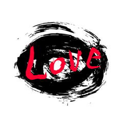abstract design of lettering love vector image vector image