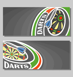 banners for darts vector image