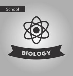 Black and white style icon biology molecule vector