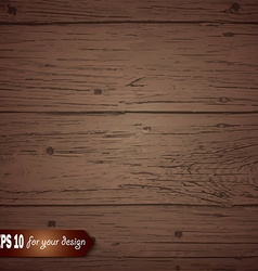Brown wooden background for your design vector image