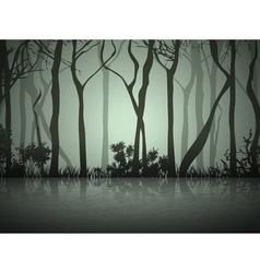 Dark Fog Forest vector image vector image