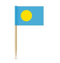 flag of palau flag toothpick vector image