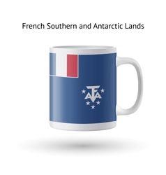 French southern and antarctic lands flag souvenir vector